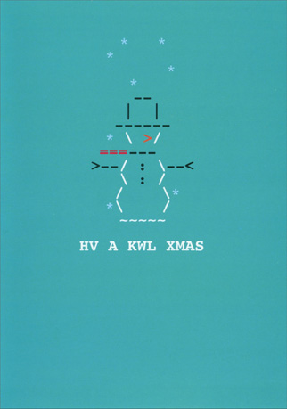 HV A KWL XMAS (18 cards/18 envelopes) - Boxed Christmas Cards - FRONT: HV A KWL XMAS  INSIDE: & A HOT NW YR