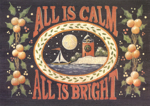 All is Calm All is Bright (1 card/1 envelope) - Holiday Card - FRONT: All is Calm  All is Bright  INSIDE: Wishing you joy in the quiet moments of the seaon, and peace through each day in the new year.  Happy Holidays
