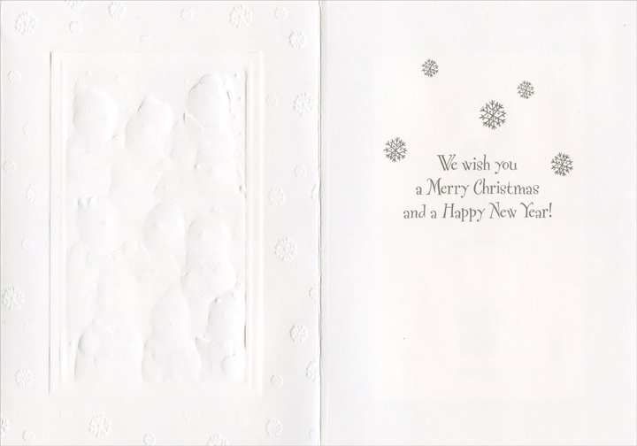 Snow Chorus (1 card/1 envelope) - Christmas Card  INSIDE: We wish you a Merry Christmas and a Happy New Year!