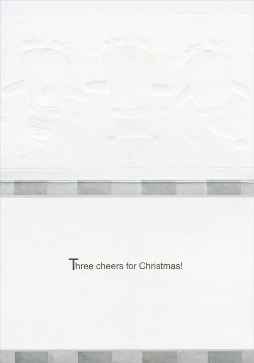 3 Penguins (18 cards/18 envelopes) Paper Magic Boxed Christmas Cards  INSIDE: Three cheers for Christmas!
