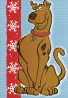 Scooby on Blue Background Box of 16 Christmas Cards