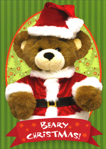 Beary Christmas Box (12 cards & 12 envelopes) - Boxed Christmas Cards - FRONT: Beary Christmas!  INSIDE: and a cozy New Year!