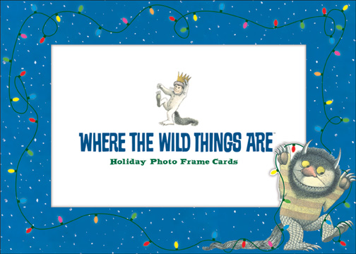 Wild Thing Photo Frame (1 card/1 envelope) - Holiday Card - FRONT: Where The Wild Things Are - Holiday Photo Frame Cards (Fits standard 4'' x 6'' photo)  INSIDE: Happy Holidays!