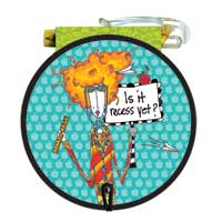 Is it recess yet Round Purse Pad (85 Sheets)