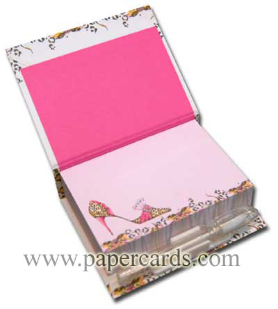 Fabulously Feline (150 sheets) Pictura Head Over Heels Embellished Sticky Notes with Pen