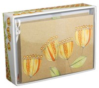 Golden Bloom (14 cards/15 envelopes) - Boxed Blank Note Cards