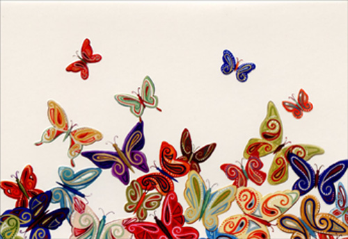 Butterflies box of 14 blank note cards by pictura card details m4hsunfo