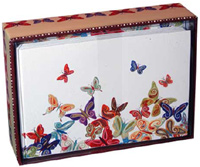 Butterflies (14 cards/15 envelopes) - Boxed Blank Note Cards