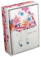Floral Dress (14 cards/15 envelopes) Pictura Boxed Thank You Cards