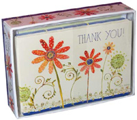 Blooming Flowers Thank You (14 cards/15 envelopes) Pictura Boxed Thank You Cards