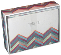 Colorful ZigZag Thank You (14 cards/15 envelopes) Pictura Boxed Thank You Cards