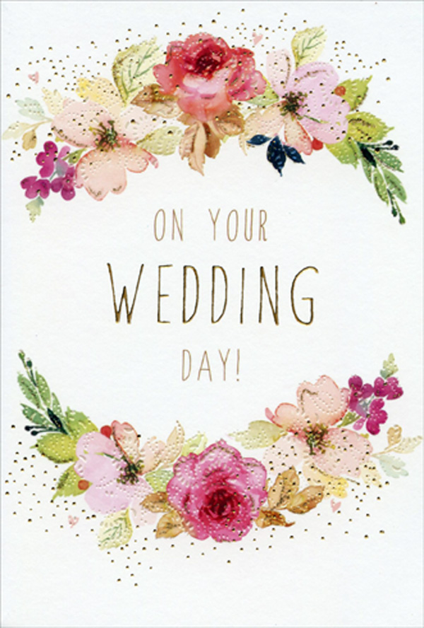 Congratulations On Your Wedding Day.On Your Wedding Day Floral Frame Sara Miller Wedding Congratulations