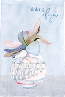 Pictura Pansy Frame Just Thinking of You Sienna Garden Die Cut Friendship Card