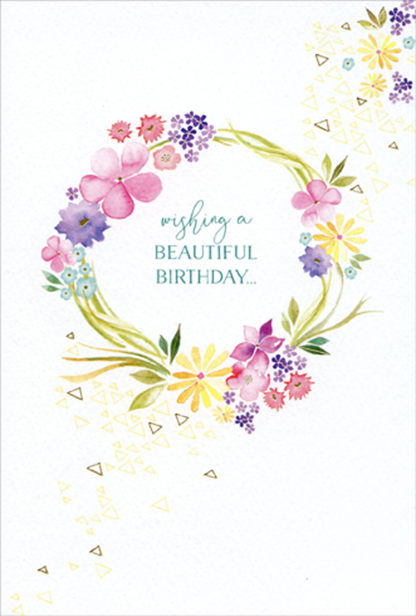 Greenery Watercolor Card Greeting Card Hand-painted Birthday Card Flower Card Custom Card Anniversary Card Special Occasion Card
