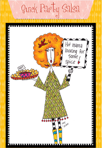 Quick Party Salsa Dolly Mama Funny Humorous Birthday Card By Pictura