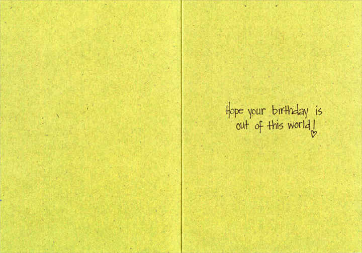 Only Planet With Wine (1 card/1 envelope) - Birthday Card - FRONT: Save the Earth�  It's the only planet with wine!  INSIDE: Hope your birthday is out of this world!