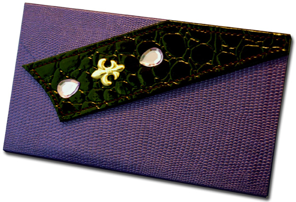 Dark Purple with Fleur de Lis (60 Colored Sheets) Pictura Design House Clutch Pad