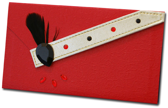 Red with Black Feather (60 Colored Sheets) Pictura Design House Clutch Pad