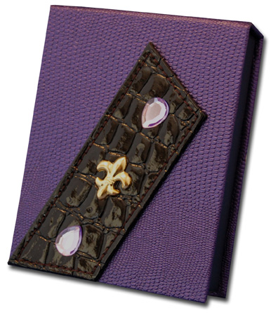 Dark Purple with Fleur de Lis (140 Colored Sheets) Pictura Design House Memo Box