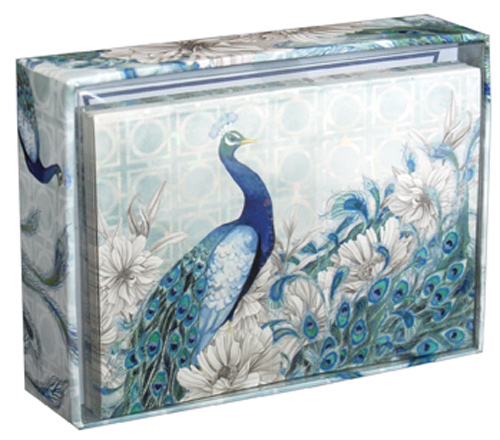 Peacock box of 14 blank note cards by pictura peacock box of 14 blank note cards by pictura m4hsunfo