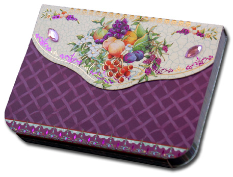 Fruit (90 sheets) Pictura Indigo Moon Embellished Gem Purse Pad