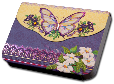 Purple Butterfly (90 sheets) Pictura Indigo Moon Embellished Gem Purse Pad