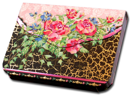 Roses (90 sheets) Pictura Indigo Moon Embellished Gem Purse Pad