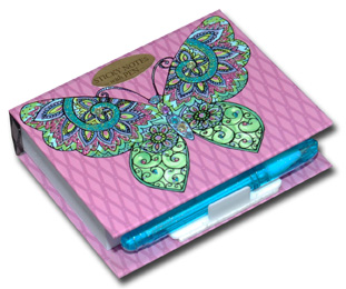 Swirl Butterfly (150 sheets) Pictura Butterfly Collection Embellished Sticky Notes with Pen