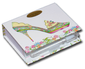 China Doll (150 sheets) Pictura Head Over Heels Embellished Sticky Notes with Pen