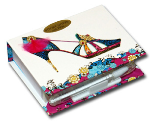 Mandarin Midnight (150 sheets) Pictura Head Over Heels Embellished Sticky Notes with Pen