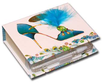 My Blue Heaven (150 sheets) Pictura Head Over Heels Embellished Sticky Notes with Pen