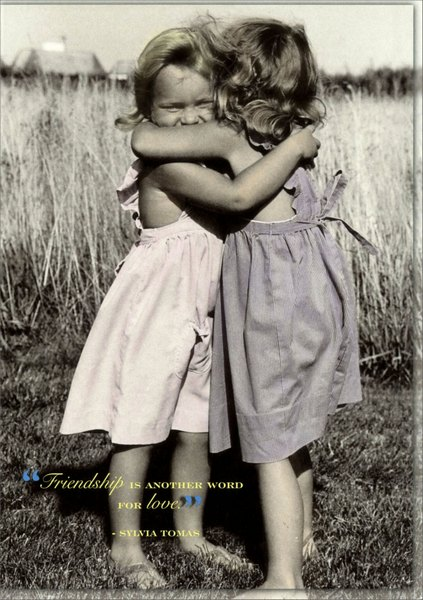 Another Word for Love (1 card/1 envelope) Portal Funny Friendship Card - FRONT: �Friendship is another word for love.�  -Sylvia Tomas  INSIDE: TRUE FRIENDSHIPS ARE forever.