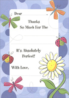 Flowers & Insects Thank You Note Cards (8 Pack)