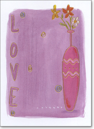 Love & Vase (25 Cards/28 Envelopes) Boxed Blank Notes - FRONT: LOVE  INSIDE: Blank Inside
