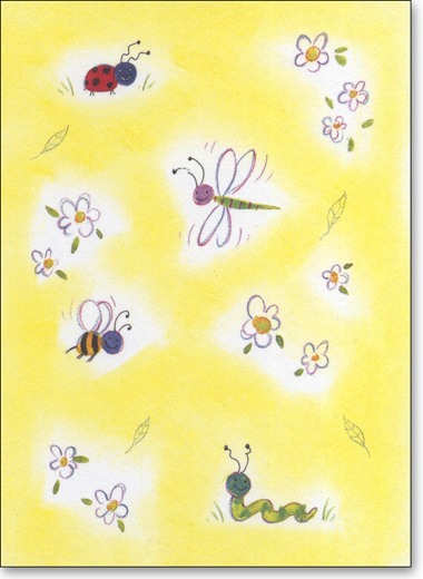 Ladybug & Friends (25 Cards/28 Envelopes) Boxed Blank Notes - FRONT: No Text  INSIDE: Blank Inside