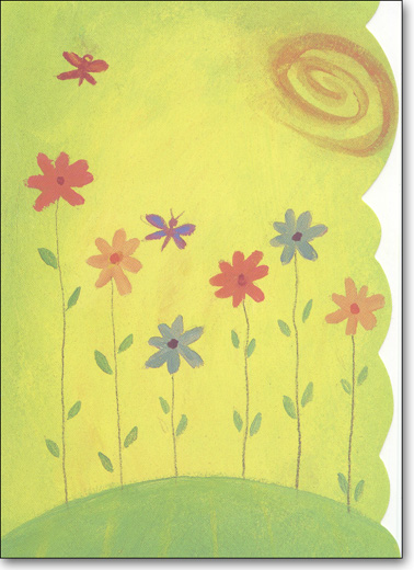 Flowers on Hill (25 Cards/28 Envelopes) - Boxed Blank Notes - FRONT: No Text  INSIDE: Blank Inside