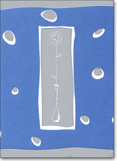 Thin Flower & Vase (25 Cards/28 Envelopes) Boxed Blank Notes - FRONT: No Text  INSIDE: Blank Inside