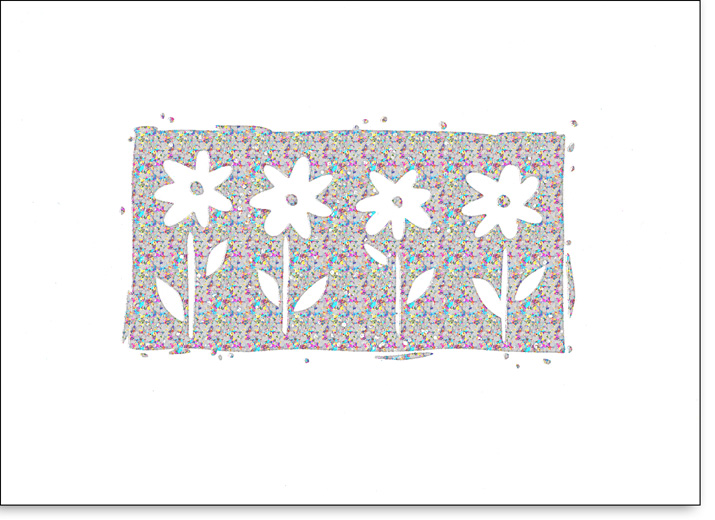 Daisies on Holographic Foil (25 Cards/28 Envelopes) Boxed Blank Notes - FRONT: No Text  INSIDE: Blank Inside
