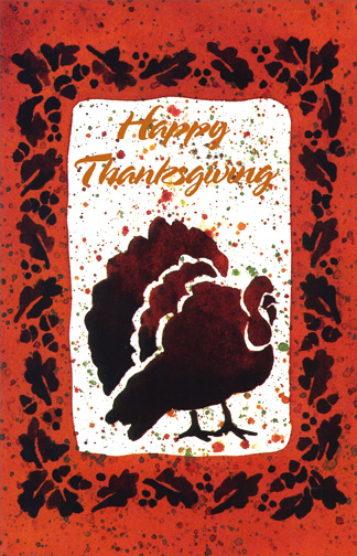 Thanksgiving Turkey (1 card/1 envelope) Thanksgiving Card - FRONT: Happy Thanksgiving  INSIDE: Thank goodness for Thanksgiving!