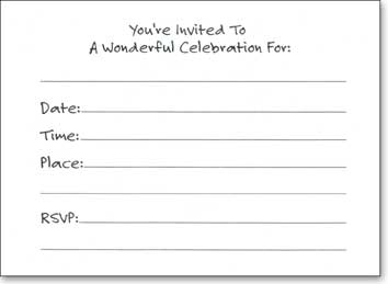 Color Splash (25 Cards/28 Envelopes) - Boxed Invitations - FRONT: It's A Celebration  INSIDE: You're Invited To A Wonderful Celebration For: ____ - Date - Time - Place - RSVP