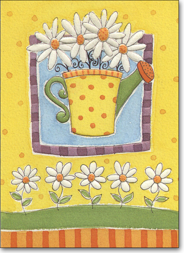 Watering Can (25 Cards/28 Envelopes) Boxed Blank Notes - FRONT: No Text  INSIDE: Blank Inside