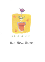 Flower Pot Box of 25 New Home Announcement Cards