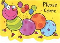 Centipede Box of 25 Invitations Party Invitations
