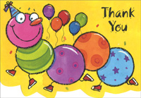 Centipede Box of 25 Thank You Note Cards