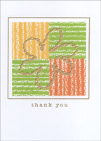 Flower on Color Squares Box of 25 Thank You Note Cards