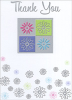 Four Flowers Box of 25 Thank You Note Cards