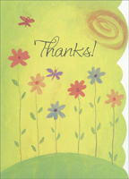 Flowers on Hill Box of 25 Thank You Note Cards