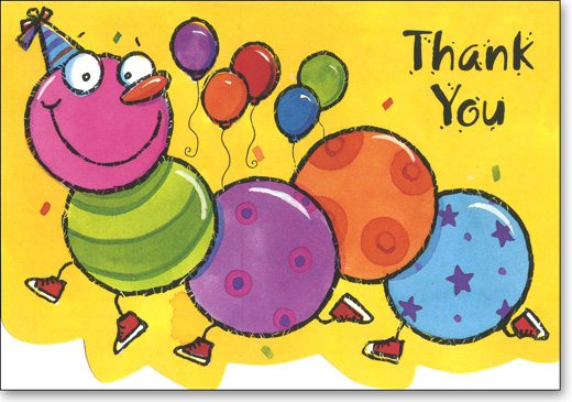 Centipede (25 Cards/28 Envelopes) - Boxed Thank You Note Cards - FRONT: Thank You  INSIDE: Blank Inside