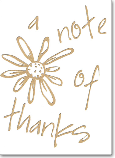 A Note of Thanks (25 Cards/28 Envelopes) Boxed Thank You Note Cards - FRONT: a note of thanks  INSIDE: Blank Inside