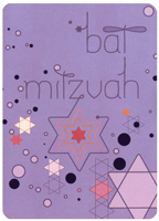 Bat Mitzvah Stars (1 card/1 envelope) Recycled Paper Greetings Bat Mitzvah Card